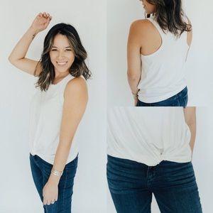Carly Jean Los Angeles Favorite Tie Tank White